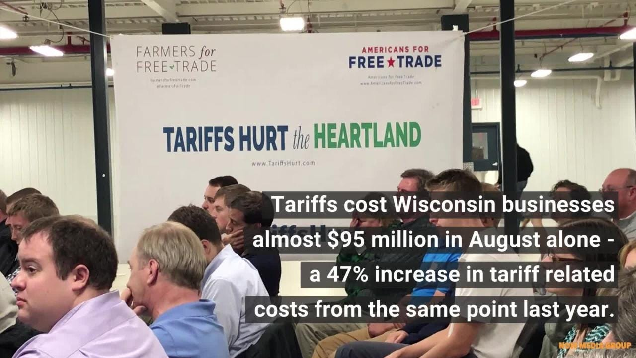 Wisconsin farmers, manufacturers and business owners joined Tariffs Hurt the Heartland to discuss the impact tariffs have had on their businesses.