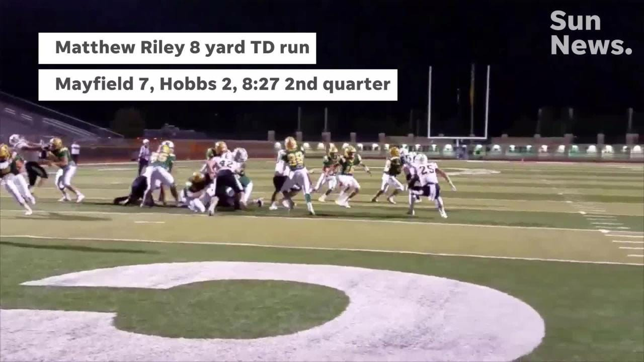 Mayfield beat Hobbs 35-8 in District 3-6A matchup Friday night at the Field of Dreams.