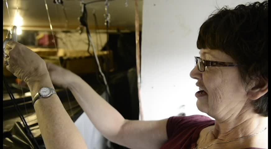 Patricia Brinks has been building a haunted house in her garage for 12 years.
