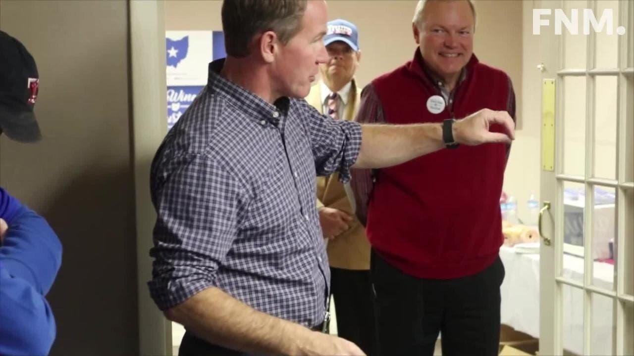Ohio Secretary of State Jon Husted, running mate of Republican gubernatorial candidate Mike DeWine, stopped in Fremont on Saturday.
