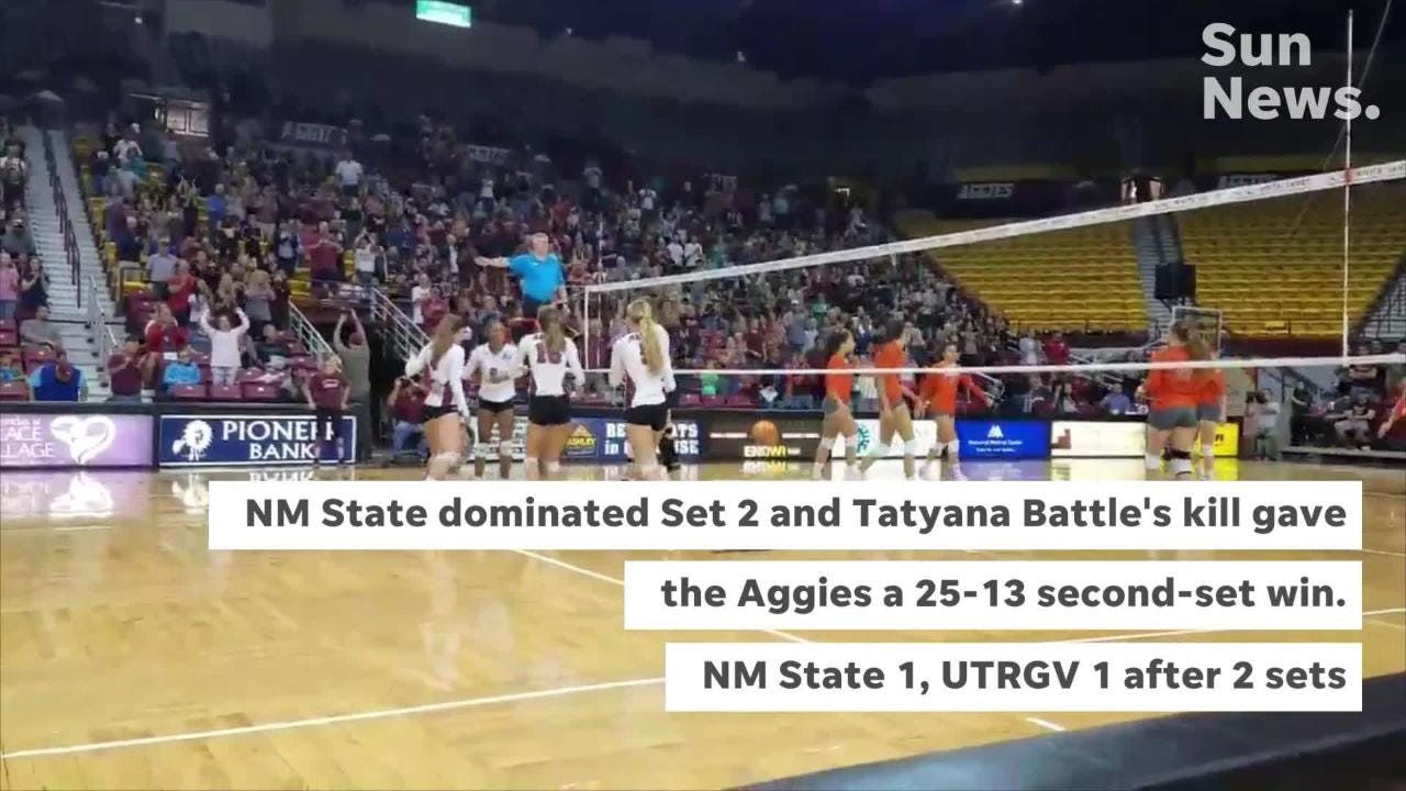 2,495 attended Saturday's New Mexico State volleyball Pack the Pan Am match against Texas-Rio Grande Valley.