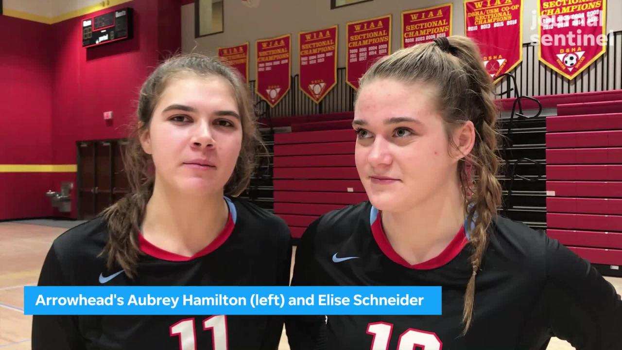 Arrowhead's Aubrey Hamilton and Elise Schneider share their thoughts on the team's run to the state tournament.
