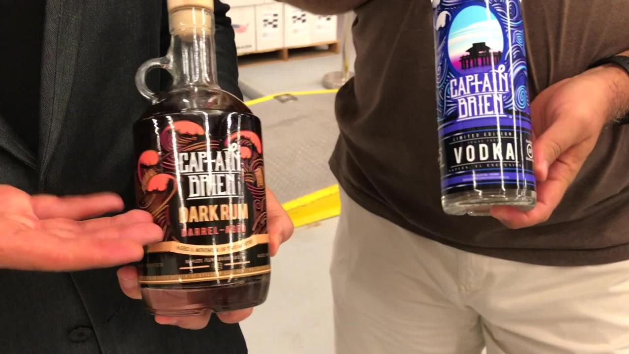Brien Spina is introducing a line of alcohol called Capt. Brien's rum and vodka, which will be sold in Southwest Florida liquor stores.