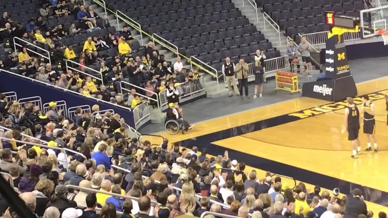 """Michigan basketball hosted its """"Selfie Night"""" open practice session Monday in Ann Arbor."""
