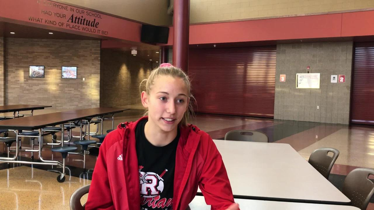 ROCORI junior Carley Kremer talks about the Spartans girls' squad qualifying for the state Class 2A meet in Northfield.