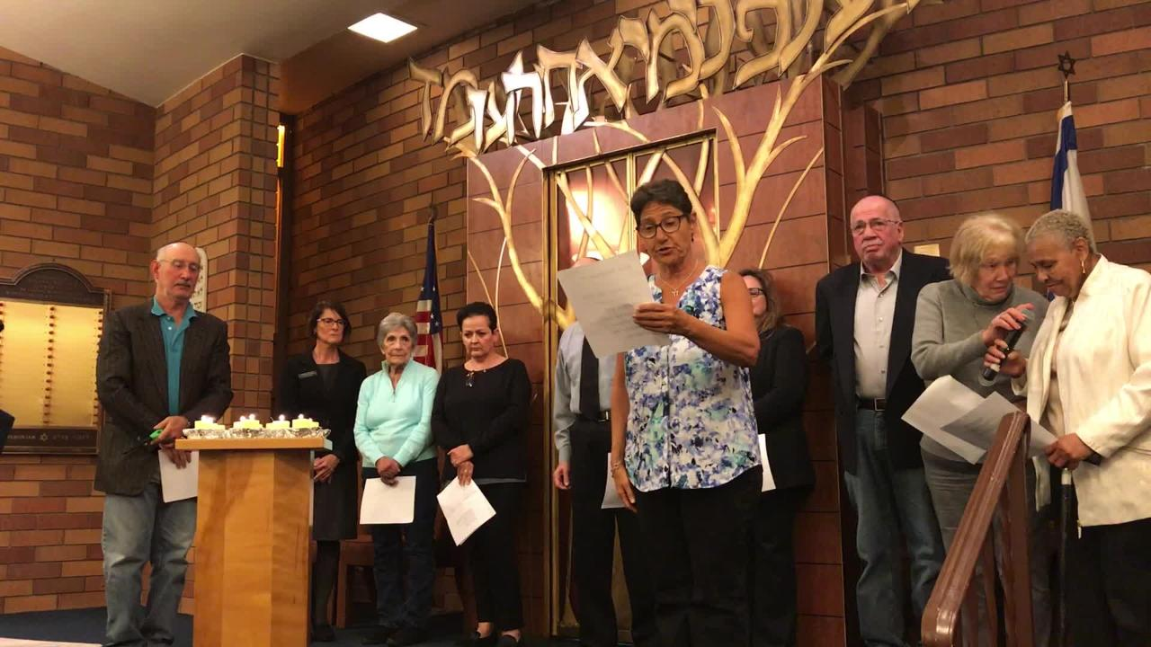 Temple Beth El in Salinas held a special ceremony to honor those killed in the Pittsburgh synagogue shooting.