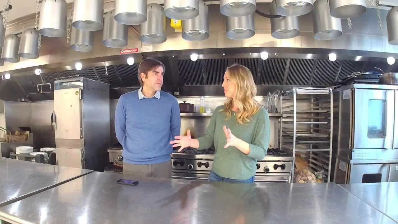 Gather on Broadway Executive Chef Jyll Everman joins Business Reporter Jeff Bollier before competing in 'Today' show tailgate competition Friday.