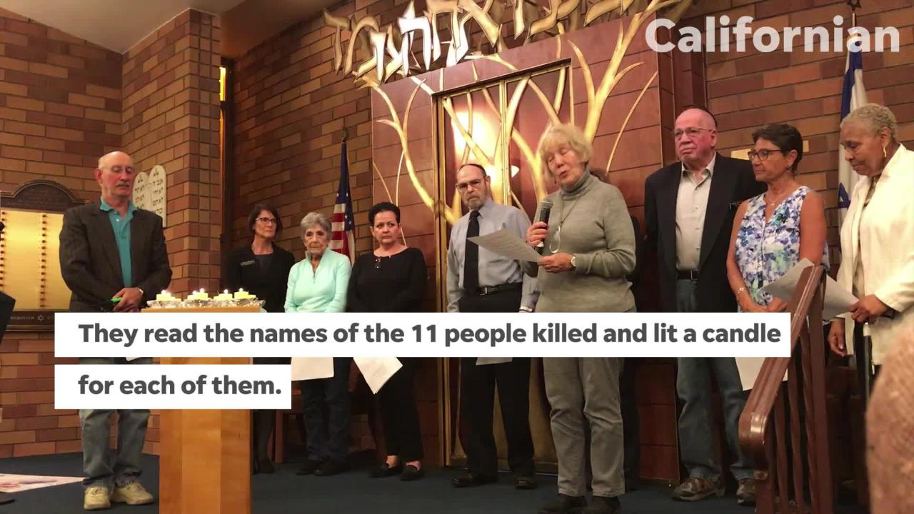 VIDEO Salinas' Temple Beth El mourns Pittsburgh shooting victims