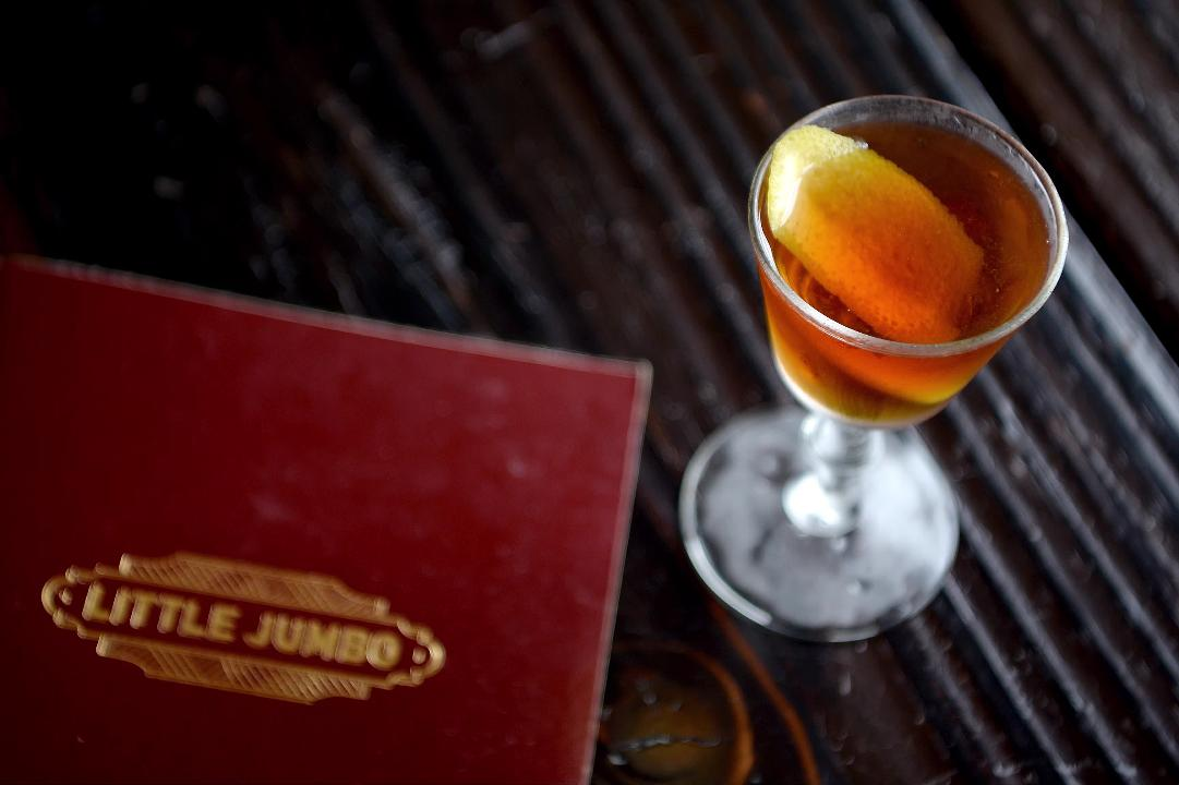 Broadway Street's Little Jumbo focuses on cocktails but that doesn't mean you won't find a decent bite to eat.