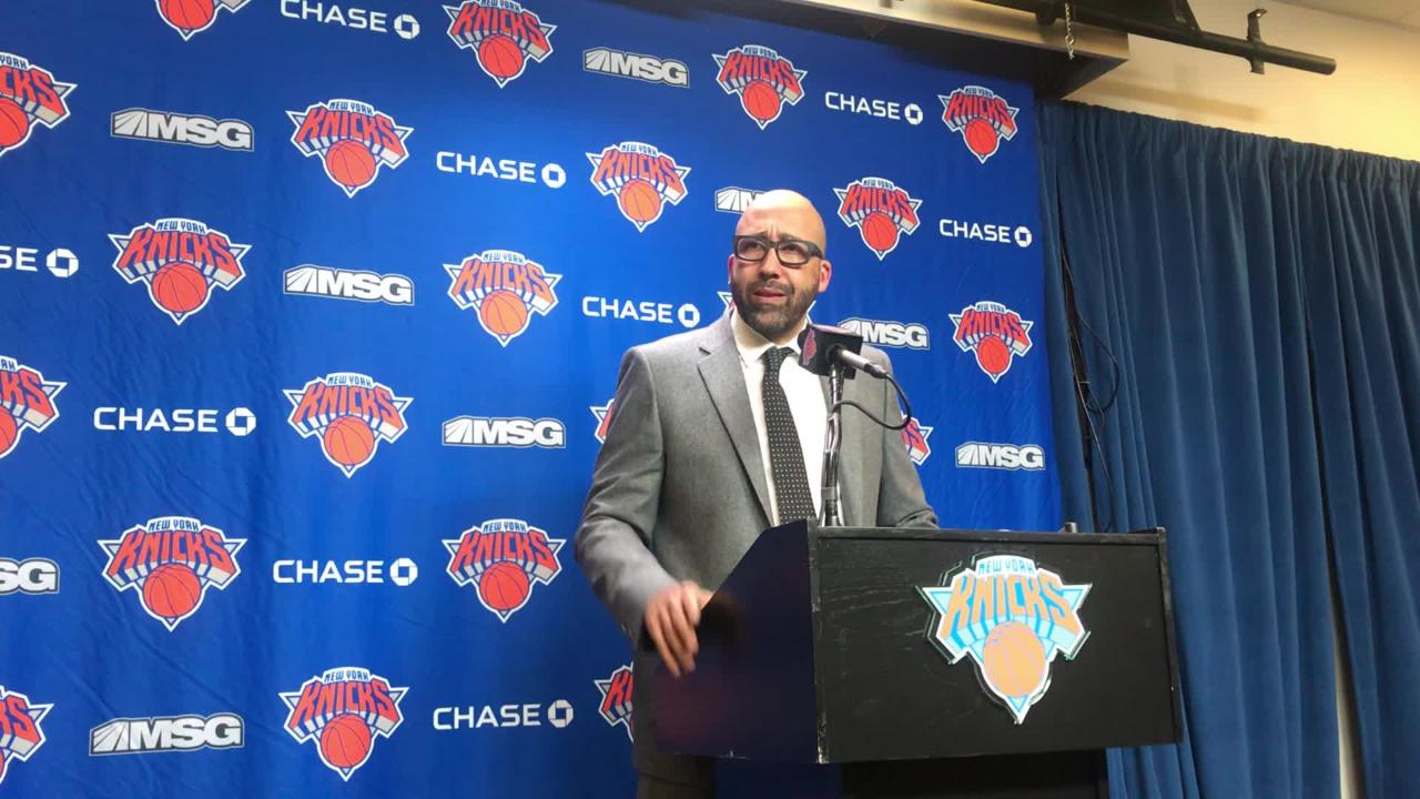 David Fizdale discusses the New York Knicks' loss to the Indiana Pacers