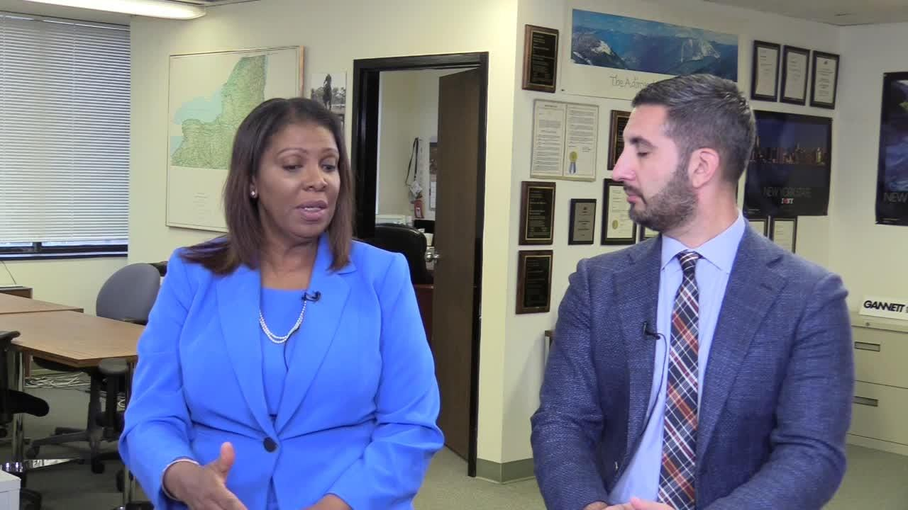 Democratic attorney general candidate Tish James discussed her campaign and key issues in an interview Nov. 1, 2018, with USA Today Network Albany Bureau Chief Joseph Spector.