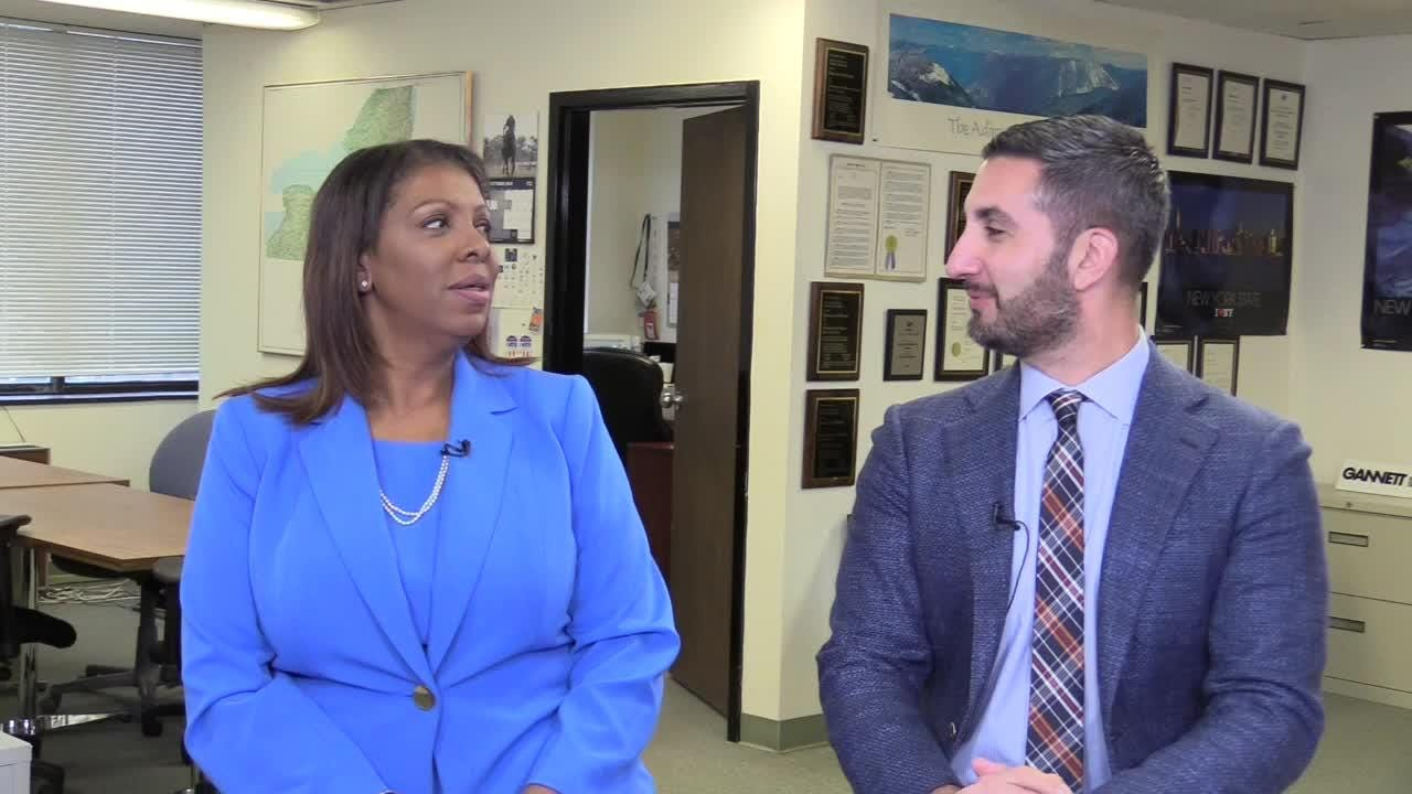 Democratic attorney general candidate Tish James was criticized for not knowing what about Rochester's Garbage Plate dish. She said Nov. 1, 2018, she'll eat one.