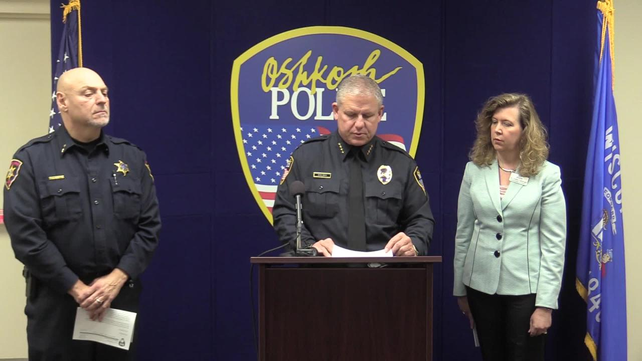 Oshkosh Police Chief Dean Smith talks about the events that led authorities to briefly lock down Oshkosh North High School on Thursday, Nov. 1, 2018.