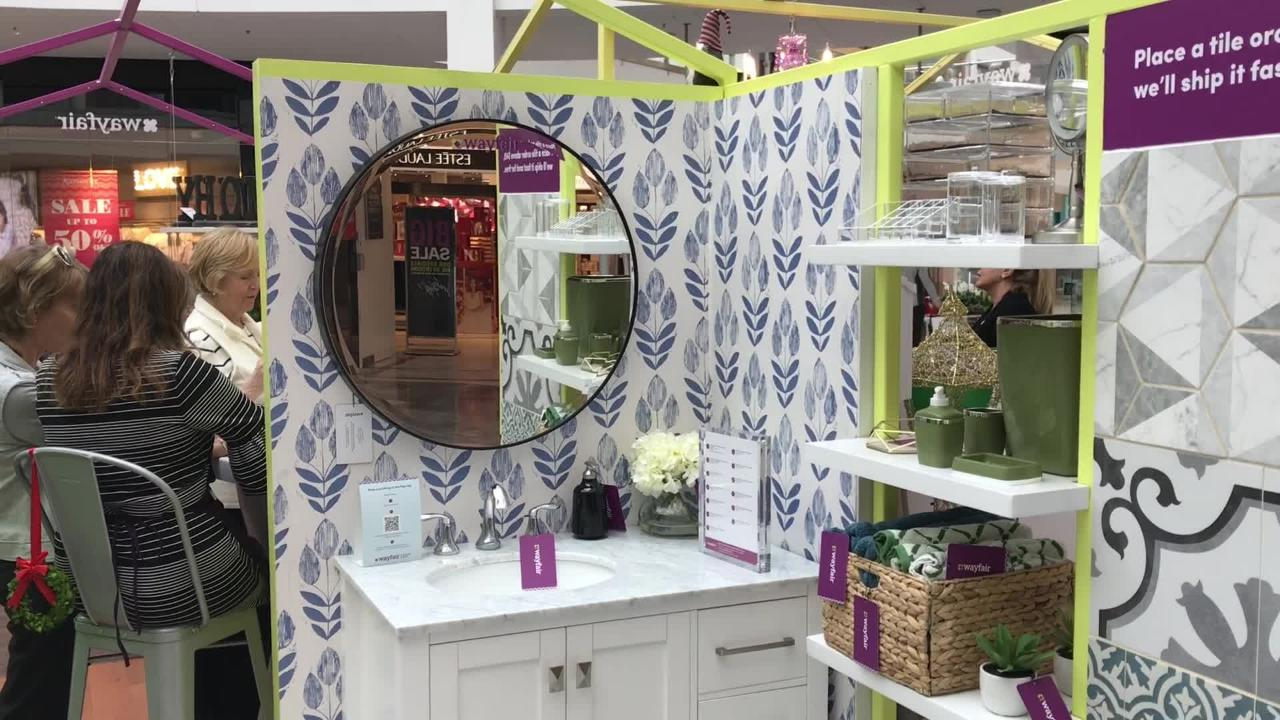 Online furniture retailer Wayfair has opened a temporary shop at Garden State Plaza mall in hopes of introducing new customers to their brand.