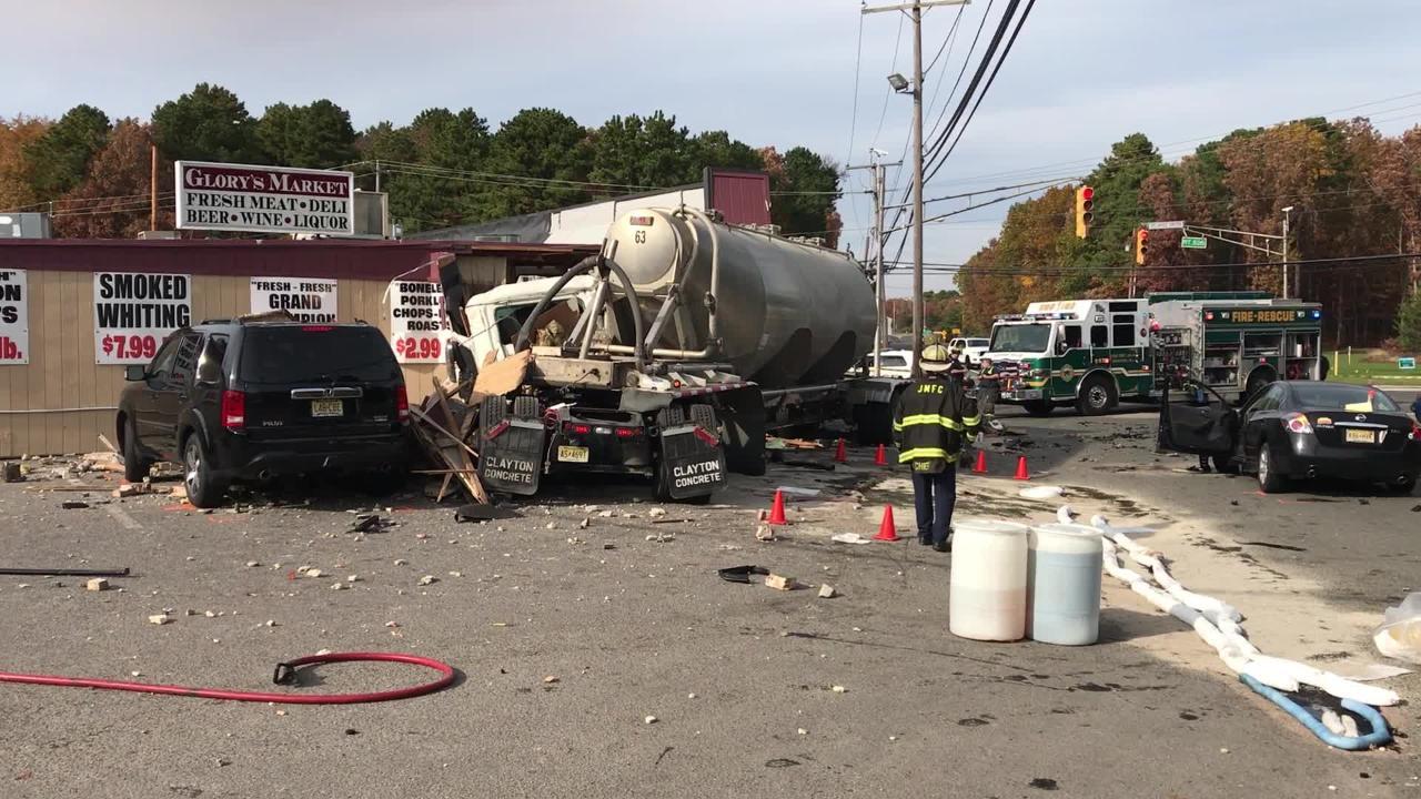 Jackson crash: The damage at Glory's Market