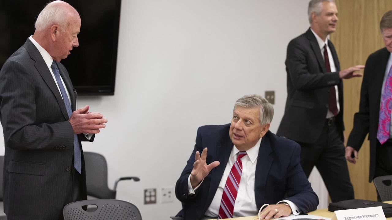 Arizona Board of Regents met with University of Arizona President Robert Robbins to discuss the men's basketball program and allegations of money being offered to recruits.