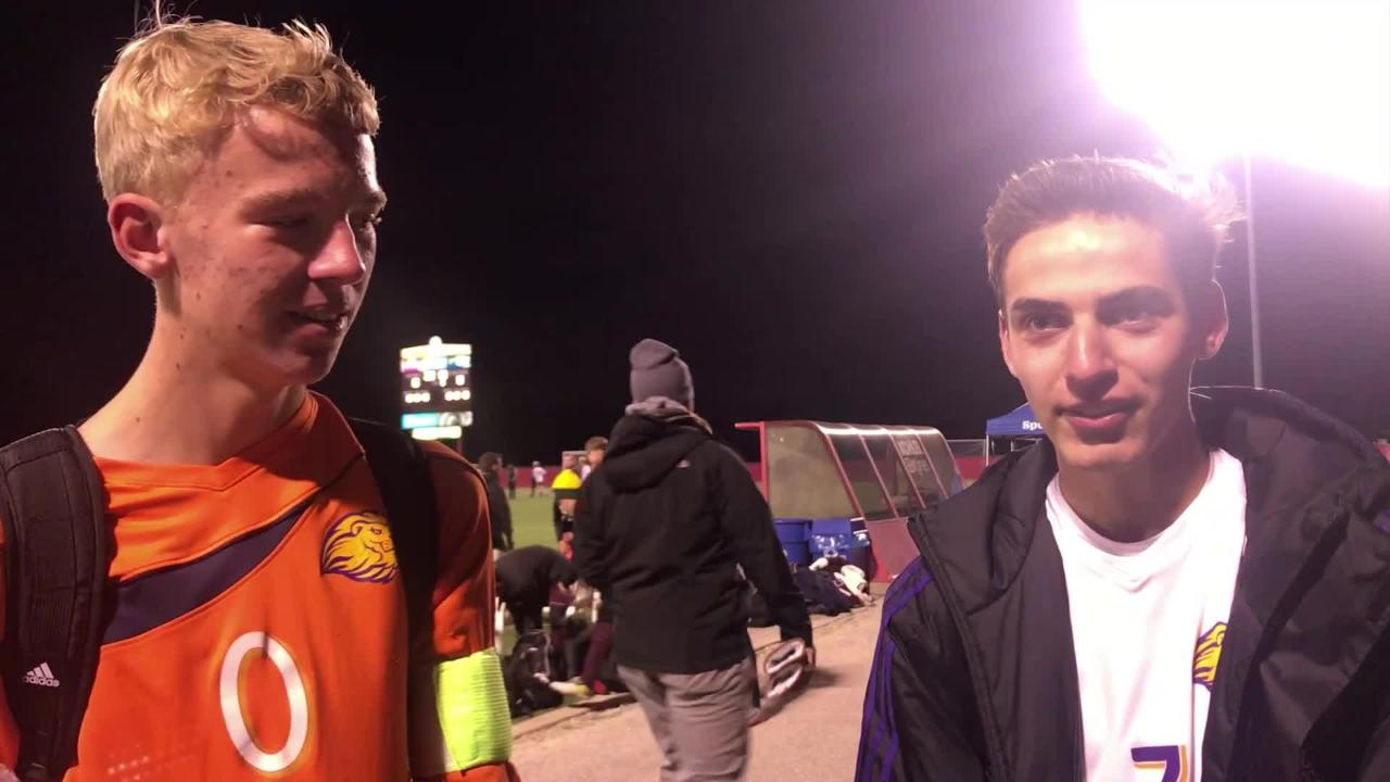 New Berlin Eisenhower seniors Matt Prodoehl and Jordan Powell talk about the chance to play for a state title Saturday.