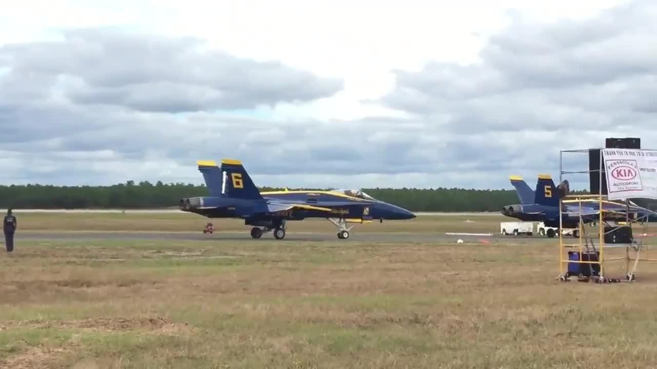 Video: Blue Angels prepare for take off at homecoming air show