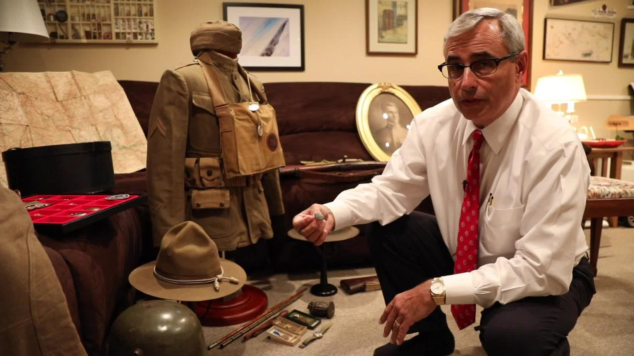 Life of a WWI doughboy relived in Pittsford.