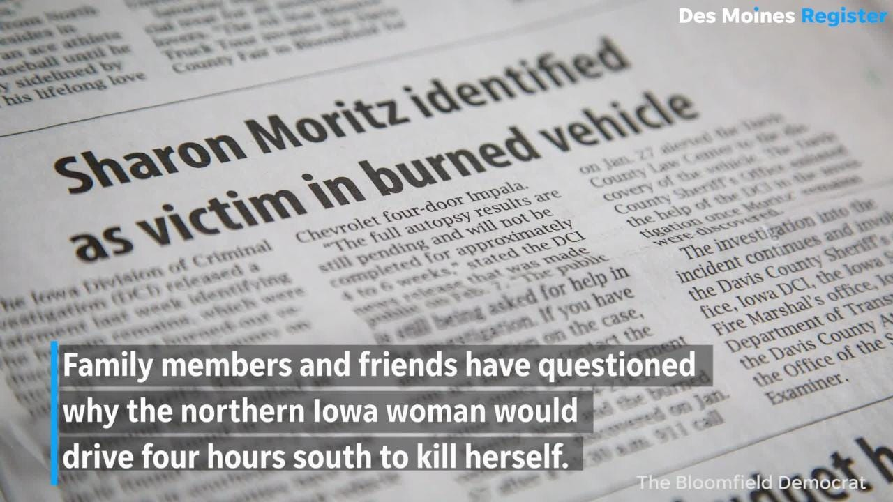 Iowa death in burned out car ruled a suicide