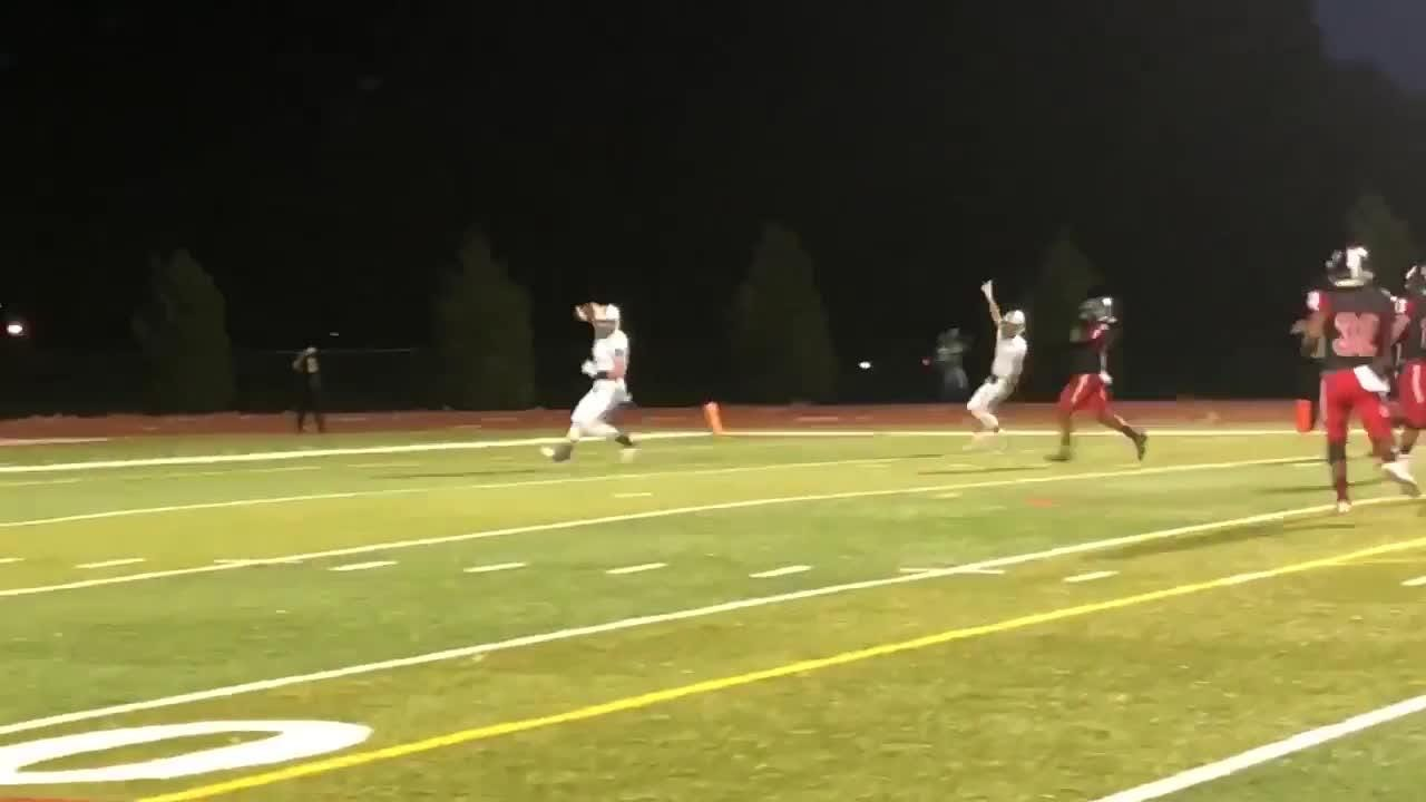 JD Breslauer connected with EJ Comerford on a fourth-down TD pass for Parsippany Hills early on against Rahway.