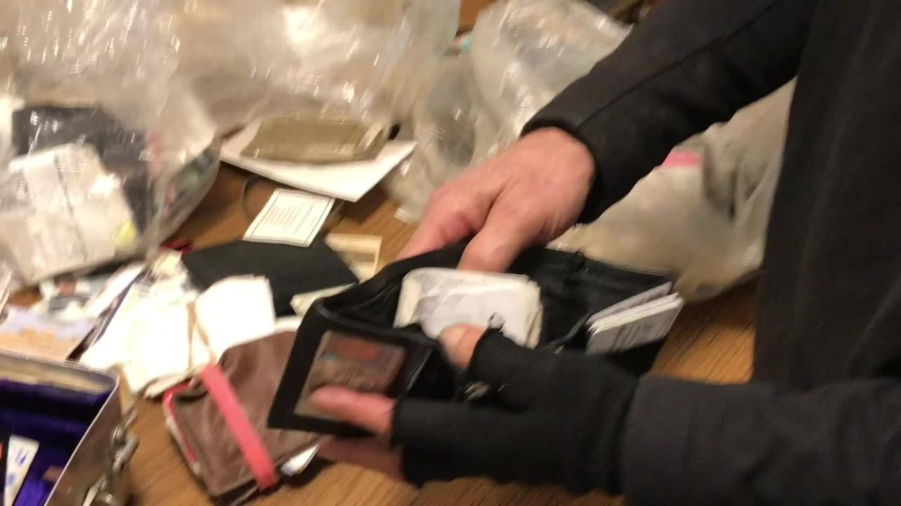 Anti-litter activist tries to return stolen items to rightful owners