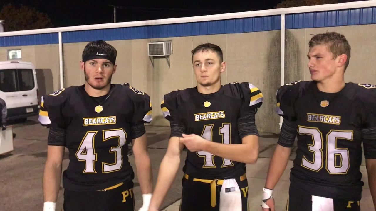Brayden Ison, Iann Cockrell and Lane Mettler discuss Paint Valley's playofff win
