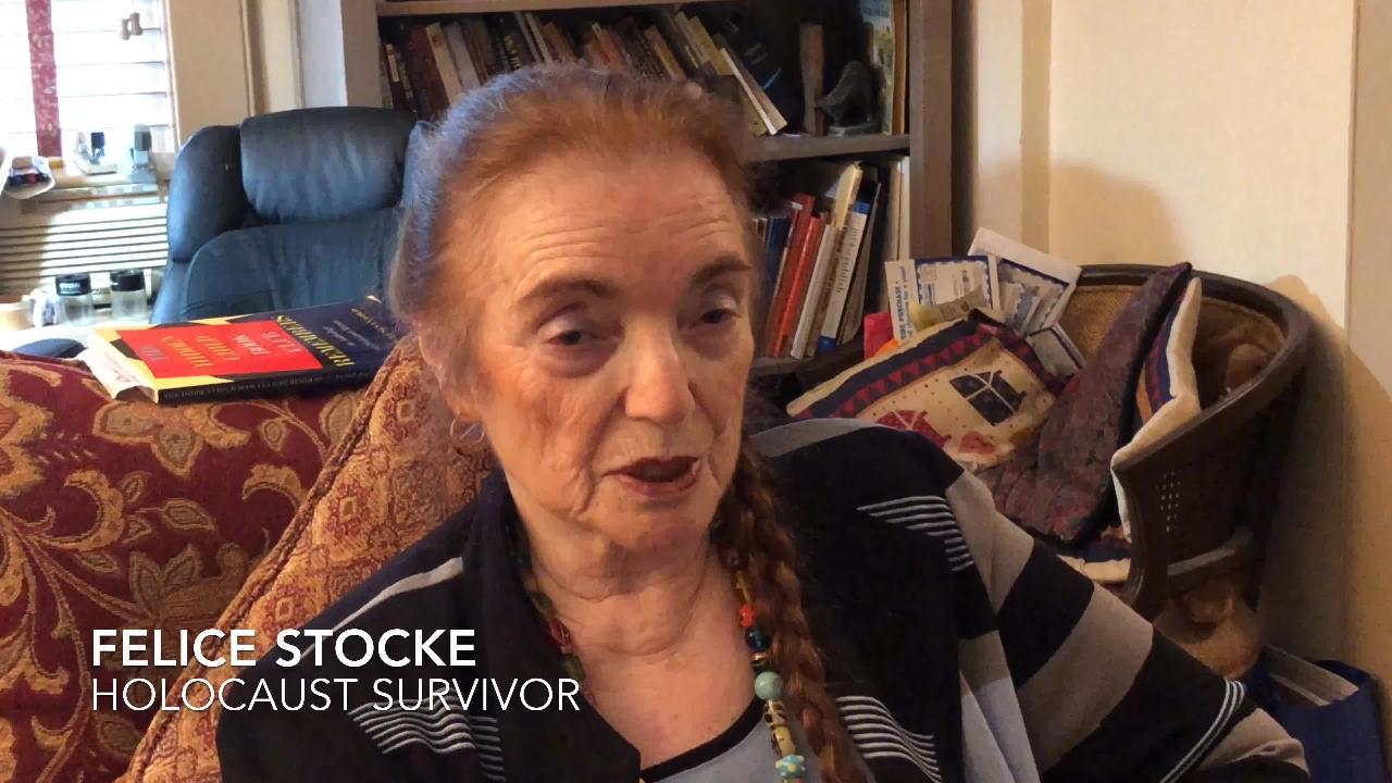 Teaneck holocaust survivor Felice Zimmer Stokes talks about the Pittsburgh massacre