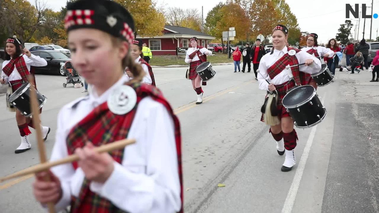 Central High School Kilties perform during Willard Veterans Day Parade