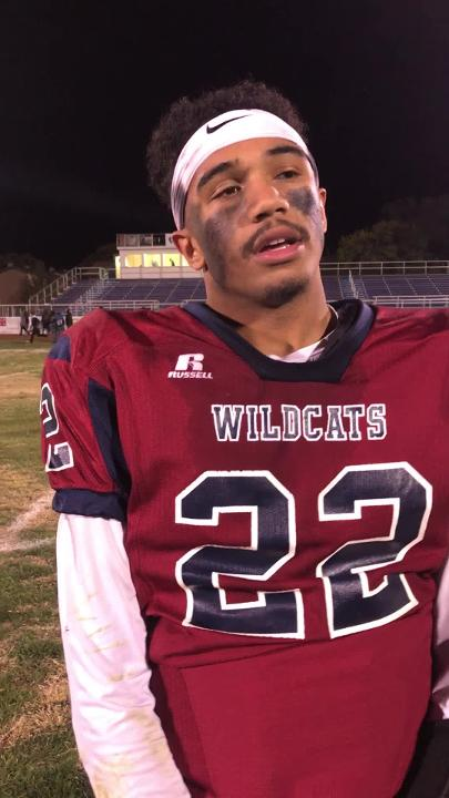 Standout junior Wildcat running back reflects on a second straight  District 3-5A football championship.