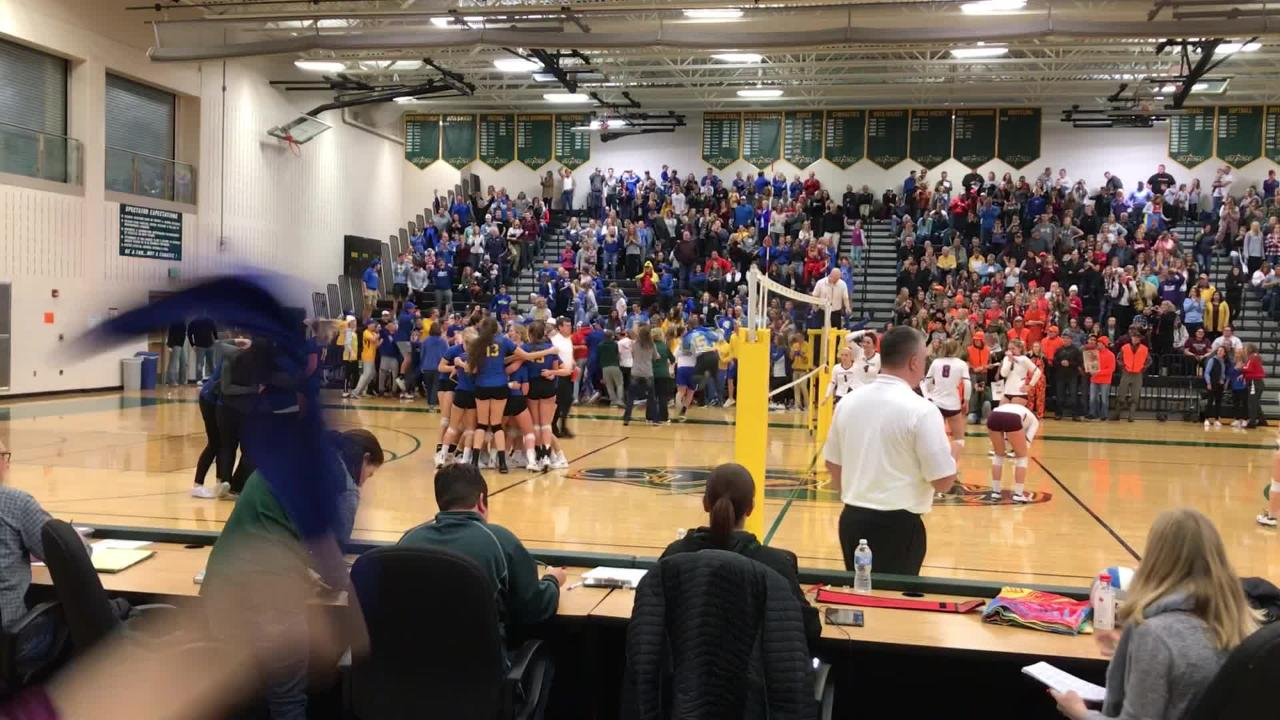 St. Cloud Cathedral beats Sauk Centre 16-14 in the fifth set to win the Section 6-2A title Saturday night at Sauk Rapids.