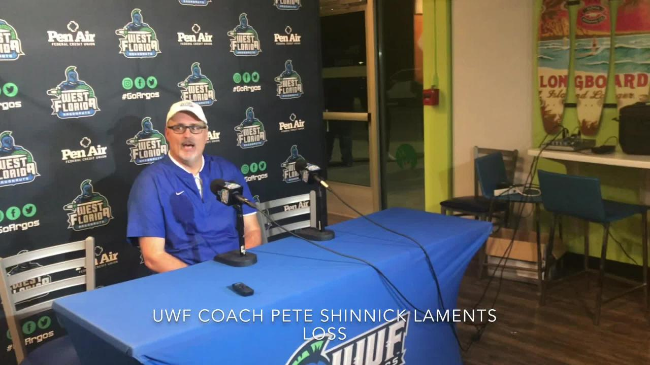 UWF fell in its final home game of the regular season against No. 7 Valdosta State. Head coach Pete Shinnick recapped the loss after the game.