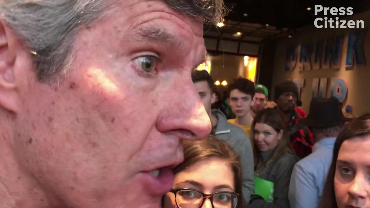 Fred Hubbell came to stump in Iowa City just two days before the Midterm 2018.