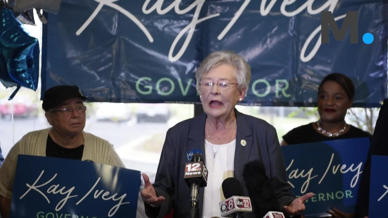 Gov. Kay Ivey delivers final remarks before final campaign trip