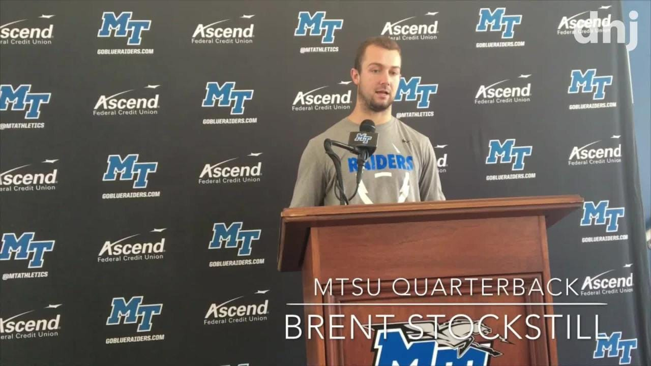MTSU coach Rick Stockstill and players Brent Stockstill and Darius Harris preview the Blue Raiders game against UTEP