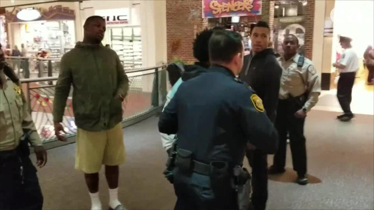 Kevin McKenzie said he was detained after filming this video of a man being handcuffed for wearing a hoodie inside Wolfchase Galleria on Nov. 3, 2018.