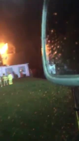 A Rutherford County home caught fire as the severe weather that ripped through Christiana early Tuesday morning. It's believed to be caused by a lightning strike from the storms. The adult male and three children inside were able to escape unharmed.