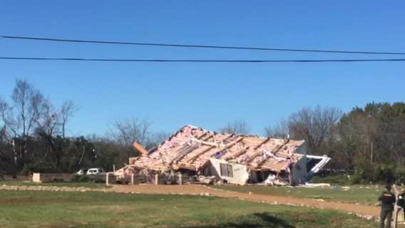 A Christiana home blew off its foundation early Tuesday morning, Nov. 6, 2018