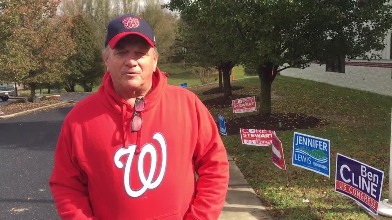 Joseph Money at Ridgeview Christian School polling place