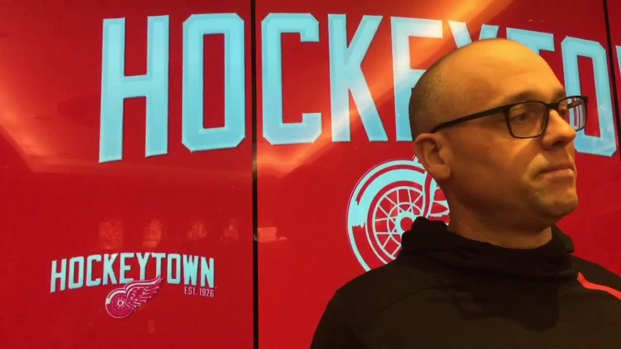 """Coaches know they are """"hired to be fired"""" but how do they deal with stress? Detroit Red Wings coach Jeff Blashill on Nov. 6, 2018, in Detroit."""