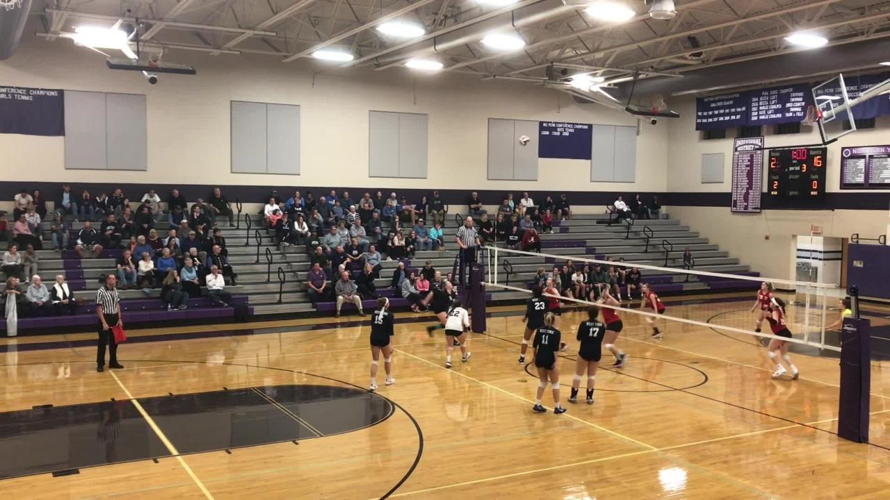 Check out the top plays from West York's straight-set victory over Greater Nanticoke in the PIAA Class 3A first round.