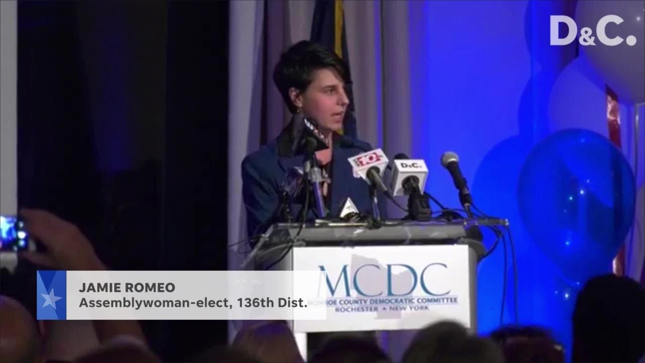 Jamie Romeo wins the Assembly seat formerly held by Joe Morelle.