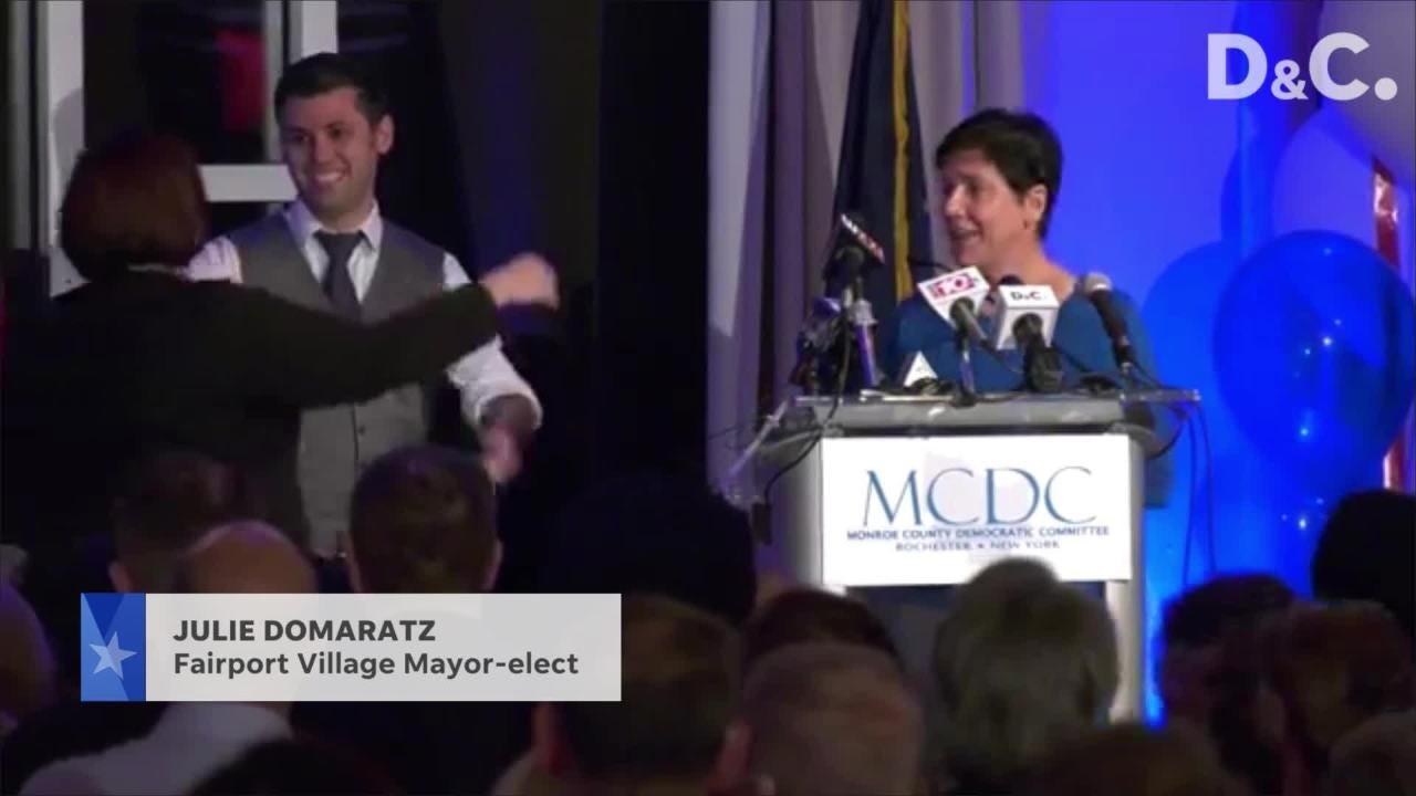 Democrat Julie Domaratz wins Fairport Mayor seat