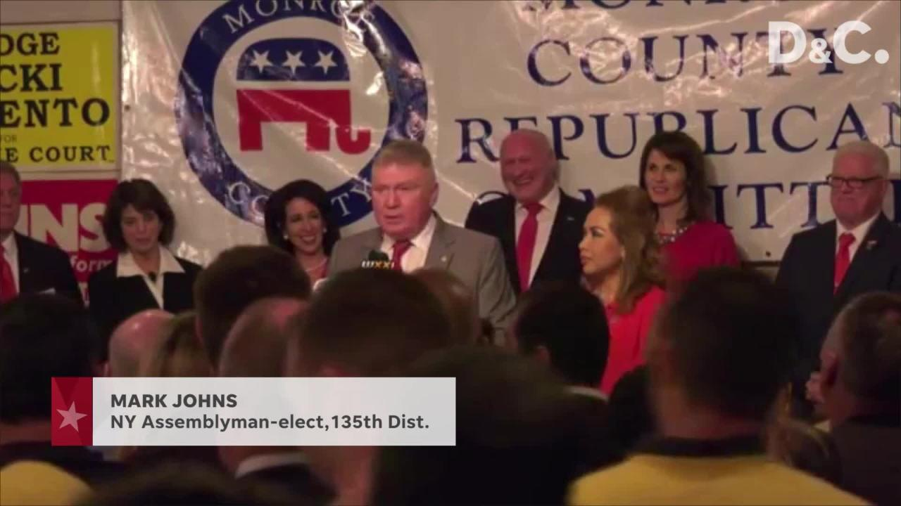 Republican Mark Johns secures a narrow victory over Democrat Andrew Gilchrist.