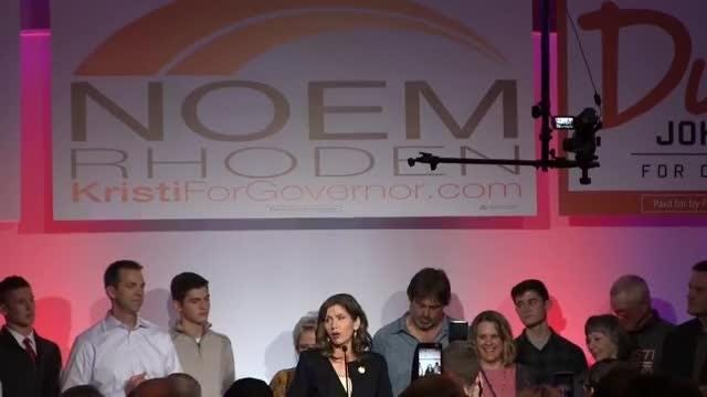 Kristi Noem was elected as the new South Dakota governor on Tuesday.