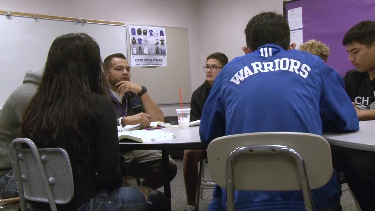 Two Cesar Chavez football players started a bible study group at the school and are striving to help those in their community.