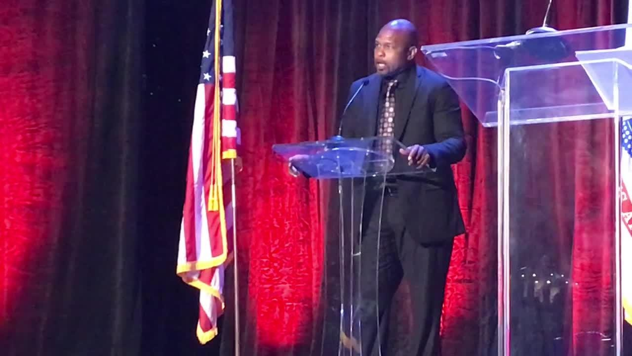 Roy Jones Jr., Jerry Pate, Justin Gatlin and Michelle Snow were among the  inductees into the Florida Sports Hall of Fame on Wednesday at NAS Pensacola.