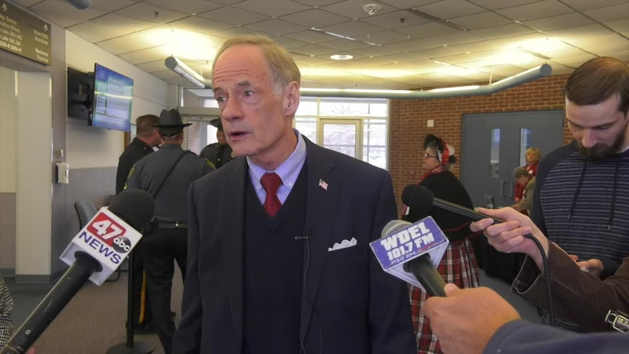 Senator Tom Carper said voters voiced their support for checks and balances with the results of the midterm elections.