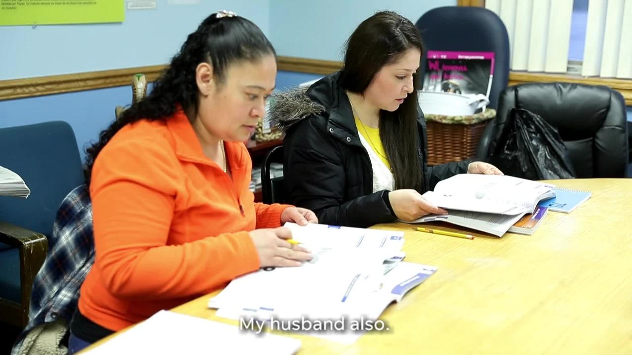 Yolanda Arellano is working toward her GED by taking classes at Casa ALBA Melanie in Green Bay, Wis.