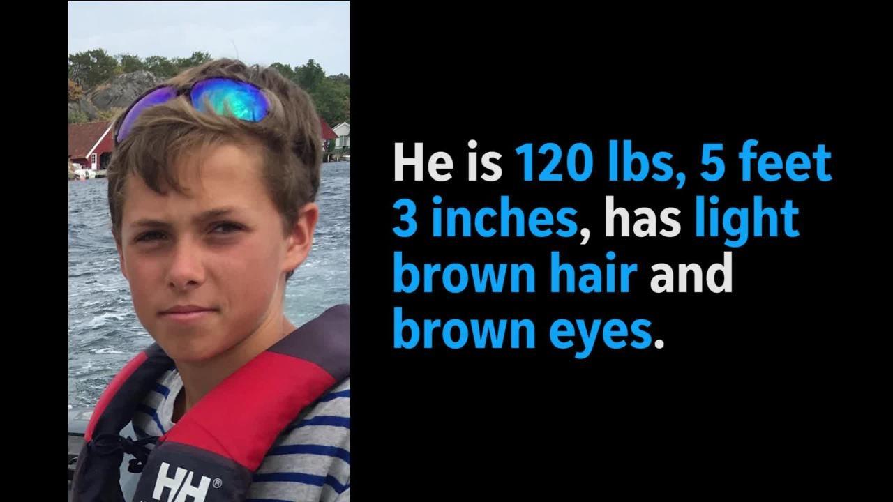 Search on for missing teen Thomas Kolding, 15, of Mountain Lakes